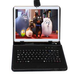 Tastiera di tavoletta gps online-All'ingrosso-FreeShip BoDa da 9,6 pollici Phone Pad Dual Sim card Tablet PC da 16 gb 3 g 4G Quad Core IPS HD GPS Android 5.1 Confezione regalo copertura della tastiera