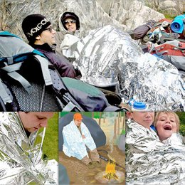 Wholesale Open Savings - Outdoor Emergency Blanket Life Saving Blanket Outdoor Survival Pad Heat Preservation Silver First Aid ,10pcs Free china post