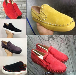 Wholesale Business Shoes For Women - Black Patent Loafers Shoes For Men,Women Slip On Best Oxfords Business Shoes Luxury Spikes Flat Wedding Party Dress Shoes 35-46