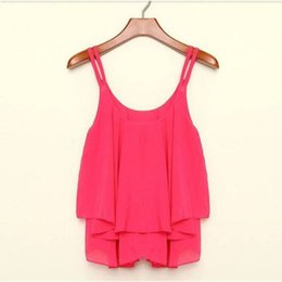 Wholesale Ladies Tank Tops Price - Fashion Summer Shirt Sleeveless Chiffon Blouse Loose Casual Tank Tops Vest For Women Lady Best Price