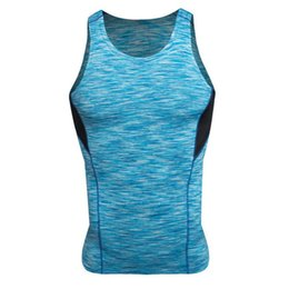 Wholesale Sexy Men Tight Clothing - Wholesale- Summer Men Camouflage Quick Dry Solid Cool Tee Shirt Wicking Tank Tops Vest Fitness T-shirt Tights Clothing