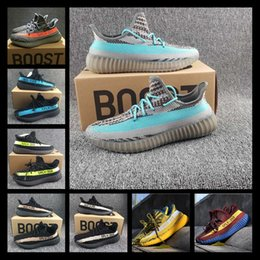 Wholesale Narrow Boots - 2017 Newest 350 Sply V2 All White Boost Running Shoes Good Quality Sneakers Zebra Orange Pink Kanye West 350 SPLY-V2 Boots Sports Shoes