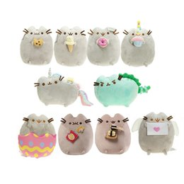 "Wholesale 15cm Dolls - Hot Sale 10 style 6"" 15cm   9"" 23cm Pusheen Cookie Icecream Doughnut Rainbow Angel eggshell Cat Plush Doll Stuffed Animals Christmas Toys"