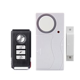 Wholesale Door Window Remote Alarm - Remote Control timely Burglar Alarm Home Security Door Window 105 dB Siren Magnetic Sensor Warning System Detector