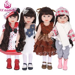 Wholesale Handmade American Girl Doll - Hot sale 45 cm 18 Inch American Girl Doll Handmade Soft Plastic Reborn Baby Toys Girl Dolls for Kid's Gifts