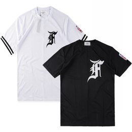 Wholesale Rib Sleeve - Summer Fashion Justin bieber Fear of God Fog Hip Hop Cool Mesh Jersey Sport Tee T-Shirt Men Women baseball Short Sleeve Tshirt with Rib