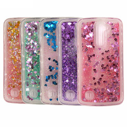 Wholesale Lg Star Cover - Bling Soft TPU Cases Fun Glitter Star Quicksand Liquid Back cover For LG Stylus LS775 Zone Ray X180Tribute LS676 X Style X Screen