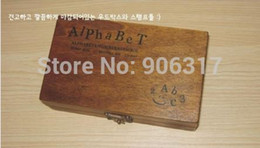 Wholesale Wood Script - Wholesale- Funnyman Wooden Stamps AlPhaBet digital and letters seal 70pcs set standardized form stamps Regular script letters,2 types font