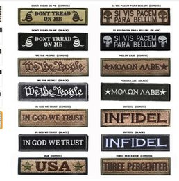 Wholesale Banner Settings - Morale Slogan Banner Embroidery Badge Patch Military Armband Men Women Embroidered Tactical Patches 2.6*9.5CM