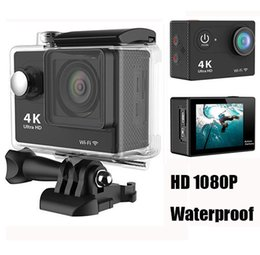 Wholesale Sport Helmet Action Camera - Ultra HD 4K 1080P WiFi Sport Action Camera Waterproof DV Helmet Video Camcorder DVR 170 Degree Wide Angle H9