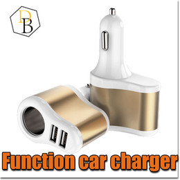 Wholesale Car Power Splitter Usb - Car Charger 2 Plug Colorful 2A Multifunctional USB Port Cigarette Lighter Scokets Power Adapter Universal Splitter for Iphone 7 Samsung s8