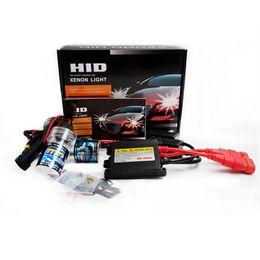 Kit de conversión de lastre delgado hid online-1 juego Auto HID luz única 35W H1 6000k 8000K Kit de lastre delgado HID Bombilla de xenón 12V potencia hight Faro