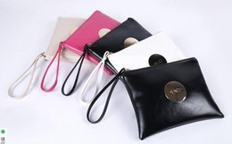 Wholesale Cell Phone Wallets For Women - 2016 MIMCO Medium Pouch Small Black White Large MIMCO Patent Leather Wallet Handbag For Women Clutch Bags MIMCO Purse Wholesale