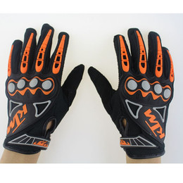 Wholesale Dh Mtb - Wholesale KTM Motorcycle gloves Downhill mountain bike gloves Men MX Motocross full finger gloves DH MTB Cycling racing glove Luvas Guant