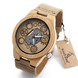 Wholesale Large Watches For Mens - Hot Sale Roles Watches For Mens Womens Tan Genuine Leather Wood Case Mechanical Watches Large Stock China Watches WSY-WD226