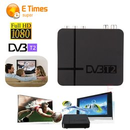 Wholesale Tvs Mpeg4 Hd Tuners - Wholesale-RUSSIA EUROPE THAILAND DVB T2 Tuner MPEG4 DVB-T2 HD Compatible With H.264 TV Receiver W  RCA   HDMI PAL NTSC Auto Conversion box