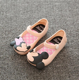 Wholesale Melissa Red - 2017 New Mickey Minnie Mini Melissa Baby Shoes Candy Color Soft Baby Girl Sandals Cartoon Waterproof Gladiator Sandals
