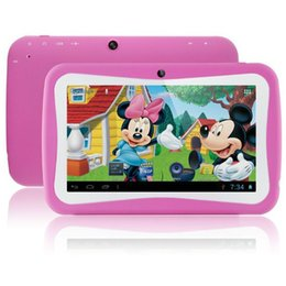 Wholesale android mid - Wholesale- Free Shipping 7 inch Quad Core Children Kids Tablet PC 8GB RK3126 Android 5.1 MID Dual Cam & Educational Games App Xmax Gift