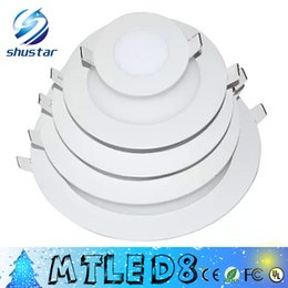 Wholesale Led Lights 3w 6w 9w - X20+ 2015 real power LED Panel Light 3W 6W 9W 12W 15W 18W Led Ceiling Recessed Grid 85-265V Downlight Ultra thin 2835 SMD Down Light Lamps