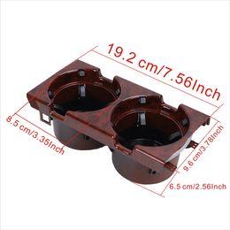 Wholesale E46 Interior - Wood Grain Auto Car Interior Water Drink Holder For BMW 3 Series E46 316 318 320 323 325 328 330 M3 1998-2005