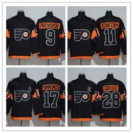 Wholesale Philadelphia Kid - Kids Youth Hockey Jerseys Black Philadelphia Flyers 2017 Stadium Series 9 Ivan Provorov 17 Wayne Simmonds 28 Claude Giroux 53 Gostisbehere