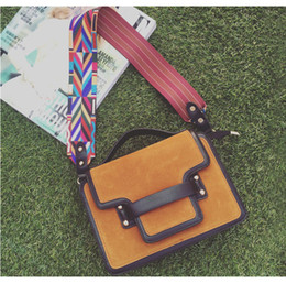 Wholesale Designers Bag Straps - Imitation Leather Bags Flap Handbags for Women Designer Promotional Price Envelope Clutch Bags with Colourful Strap