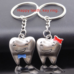 Wholesale Tooth Keyrings - Happy teeth key Ring happy keyring Zinc alloy material Wear   corrosion resistance Unchanged shape   no color change