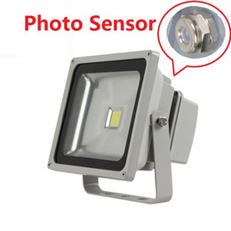 Wholesale Photo Sensor Outdoor - 50W 70W 100W Photocell Led Floodlights Photo Sensor Led Flood Lights Outdoor Waterproof IP65 For Garden Landscape Lighting AC 85-265V