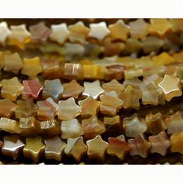 "Wholesale Wholesale Flat Wood Beads - Wholesale- Wholesale Natural PETRIFIED WOOD Jasper Flat Star Shape Loose Small Beads 4-10mm Fit Jewelry DIY Necklace or Bracelet 15"" 03152"