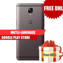 Wholesale Dual Sim One - Dhl Free Original Oneplus 3T One Plus 3T Android 6.0 Snapdragon 821 Quad Core 64 128GB ROM 6GB RAM 5.5 Inch 4G LTE Smartphone