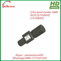 Wholesale Universal Lnbf - Free shipping HD Digital Ready C KU band universal 9750 10600 combo LNBF