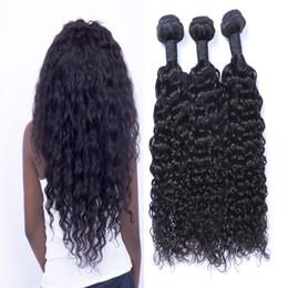 tissus remi péruvien Promotion Tissu brésilien des cheveux Jerry Curly NON PRONONCÉ Rémi Cheveux Wefts Vente en gros Virgin Brésilien Indien Malais Peruvian Human Hair Extensions