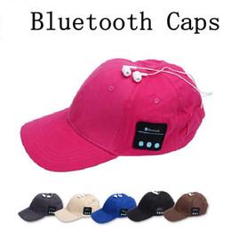 Wholesale Wholesale Fitted Ball Caps Hats - Summer Wireless Bluetooth Music Caps Headphone Sports Baseball Cap Handsfree Headset Sun Hat Music Headphone Speaker 100pcs OOA1853