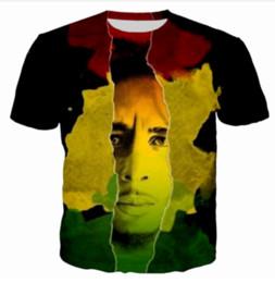 Wholesale Womens Bobs - New Greative Star Bob Marley Funny printed 3d womens mens t shirt crewneck t shirt short sleeve shirts unisex casual tee Tops XTX014