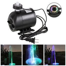 Wholesale Lighting For Fish Aquarium - Drop shipping 270GPH Water Submersible Pump with 12 Color LED Light for Aquarium Hydroponics Fish Tank US EU Plug