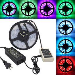 Wholesale Ip67 Strip - LED Strip Set 5050 SMD 6803IC Magic Dream Color 30LEDS M Waterproof IP67 + RF Controller + 12V 5A UK US EU AU Plug