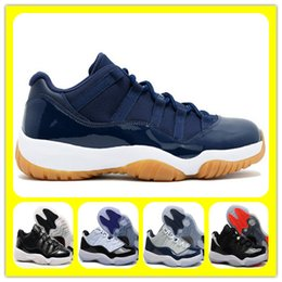 Wholesale Red Gum Boots - Wholesale 11 retro Low XI Navy Gum Concords Georgetown Breds 72-10 Basketball Shoes Mens Sports Shoes Cheap Athletics Sneakers Trainer Boots