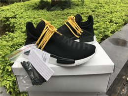 Wholesale Factory Family - Friends and Family Human Race 2017 Factory New Pharrell NMD Real Boost with Nipples Runner Pharrell Williams NMD Running Shoes size 36-48