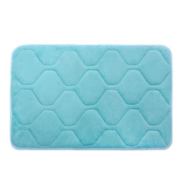 Wholesale Bathroom Pads - Wholesale-Free shipping New Slip-Resistant Pad Memory Foam Mat Bath Rug Shower Non-slip Floor Carpet Living Room Home Textile Blanket