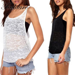 Wholesale White Vest Female - 2017 New Summer Vest Sexy Tank Tops Women Plus Size Quick Dry Loose Sleeveless Vest Singlet T-shirt female blusas promotion