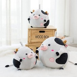 Wholesale Stuffed Black Pig - Big Fat Piggy Plush Toy 50cm Stuffed Soft Animal Pig Pillow Doll Nice Kids Gifts 2colors Available