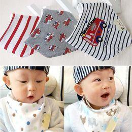 Wholesale Baby Burp Cloth Sets - 3pcs set Kids Infant Newborn Baby Bandana Bibs Towel Saliva Towel Burp Cloths Cotton Cartoon Animal DHL C1761