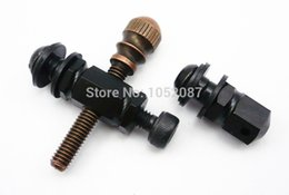 Wholesale Tattoo Springs Set - Wholesale-TOP 10 Sets Brass Tattoo Spring Screw Polishing Front Contact Binding Post For Machine Tattoo Machine Parts Free Shipping