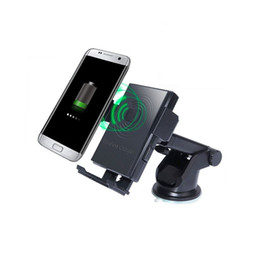 Wholesale uk degrees - Senmil Wireless Charger Car Mount 360 Degree Rotation Qi Wireless Charging 2-in-1 Car Holder for Samsung Phone