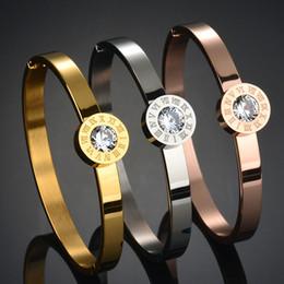Wholesale Gold Bracelets For Boys - Top Quality Never Fade 316l Stainless Steel Interchangeable Bracelet 18K Gold Plated Love Bracelet For Women Gift Bangle 7colors