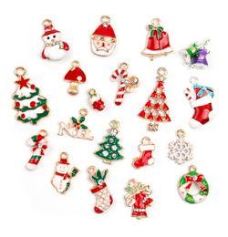 Wholesale Unique Shipping - Free Shipping! New hot sale Christmas Wholesale lots 19Pcs XSilver-tone Mix Unique Enamel Christmas Charms Pendants