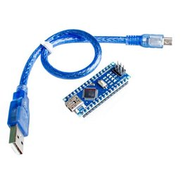 Wholesale Cable Set Arduino - Free Shipping! Wholesale 1 Set Nano 3.0 controller compatible with arduino nano CH340 USB driver with CABLE NANO V3.0