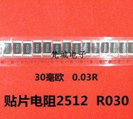 Wholesale Precision Resistance - Wholesale- 20pcs 2512 chip resistors 2W 0.03R R030 30 ohm precision resistors accuracy of 1% low resistance