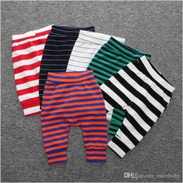 Wholesale Baggy Leggings - Kids Clothing Toddler Harem Pants Ins PP Pants Girls Stripe Cartoon Leggings Loose Baggy Pant Baby Casual Fashion Pants Solid Tights B3211