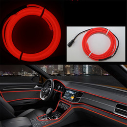Wholesale Interior Car Decoration Line - DIY Led Decoration Neon Light 12V 5Meters Car Interior LED Flexible EL Cold Wire Rope Tube Line Dashboard